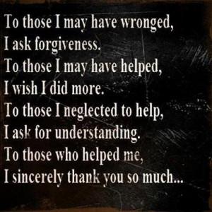 ASK FORGIVENESS :-( PLEASE