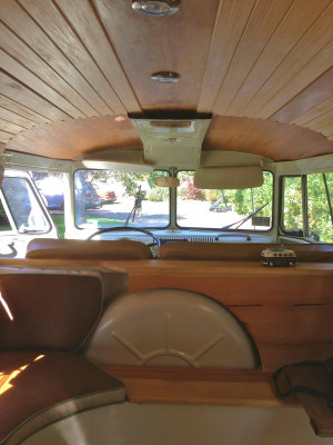 Chloe, the VW PhotoBUS has been customized with a walnut and bamboo ...