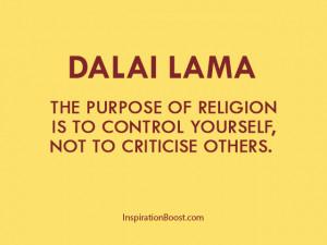 Dalai Lama Purpose of Religion Quotes