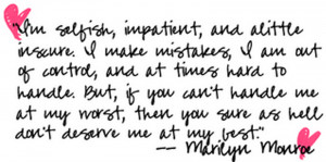 ... quotes and sayings about beauty She Exists Marilyn Monroe Quotes pict