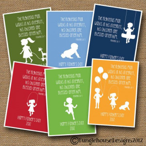 Father's Day Silhouette Card DIY PRINTABLE Christian Scripture Bible ...
