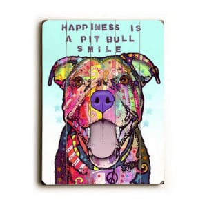 Pitbull Art: Happiness is a Pitbull Smile (Dean Russo)
