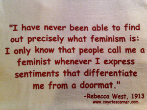 Gender Equality Quotes Feminism doormat quote by
