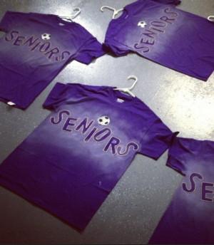 Senior night shirts!! - with cool running shoe graphic