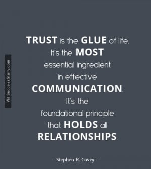 ... principle that holds all relationships.