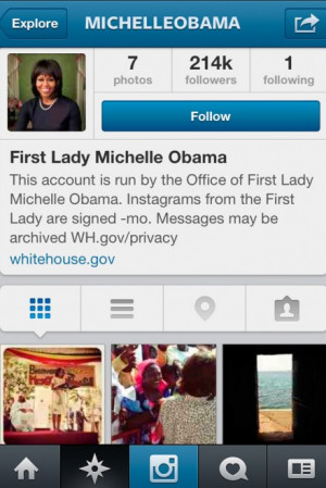 Michelle Obama Joins Instagram And Shares Pictures From Senegal ...
