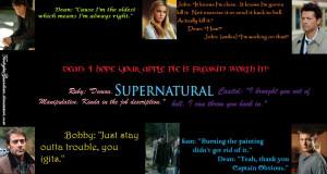 Jeϟϟi's Groupies ♠ Supernatural Quotes