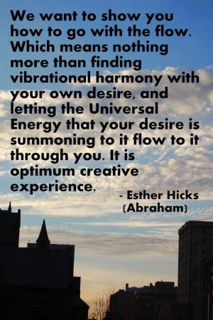 Esther Hicks Abraham quote