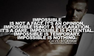 Inspirational Quotes from the Top Athletes #8 – David Beckham