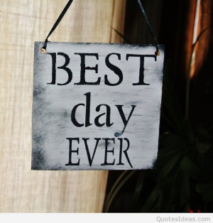 best day ever wedding sign wooden sign 2014 beach wedding quote-f65187