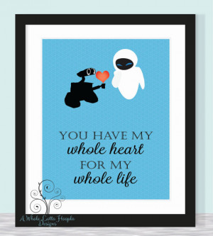 ... - Wall-E & Eve - love, family {CUSTOM QUOTE AVAILABLE} Love, Family