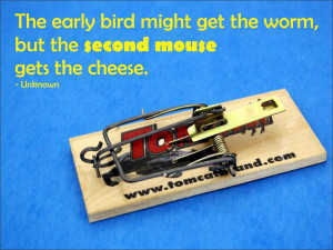 The early bird might get the worm, but the second mouse gets the ...