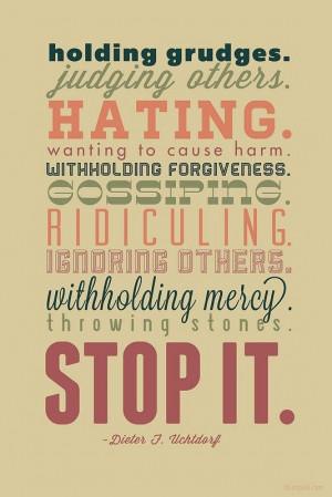 stop the negativity.