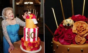 Dessert // Betty White's 90th Birthday Celebration Cake