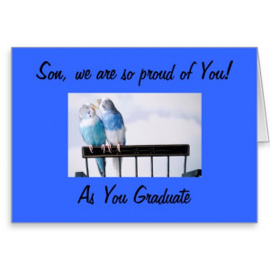PARENTS PROUD SON AT GRADUATION GREETING CARDS