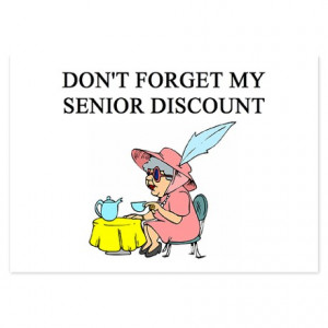 Jokes Senior Citizen Discount