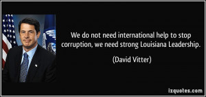 We do not need international help to stop corruption, we need strong ...