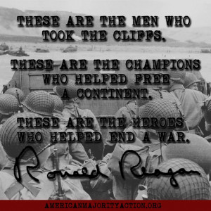 Ronald Reagan quote on the 40th anniversary of D-Day