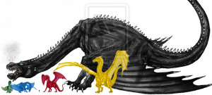 See the dragons of the Inheritance Cycle side-by-side to scale for the ...