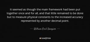 William Cecil Dampier Quotes