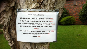 Go Back > Gallery For > Funny Clean Up After Your Dog Signs