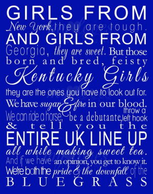 Blue, Blue Blood, Bleeding Blue, Kentucky Girls, California Girls ...