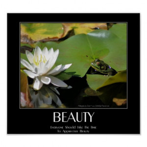 frog_and_lotus_flower_beauty_quote_inspirational_poster ...
