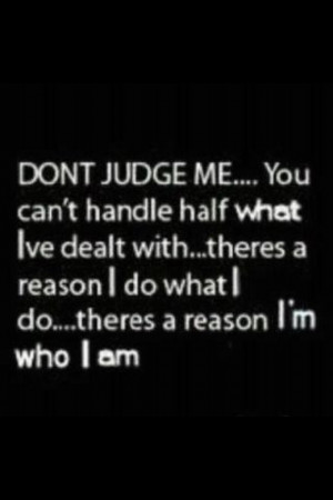 For all those judgmental hypocrites...yea bitch everyone reaches a ...