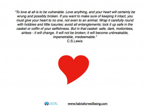 """Quote – """"To love is to be vulnerable.."""