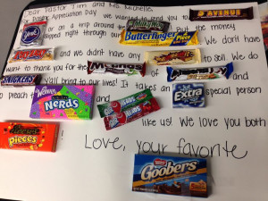 Candy Poster Card for Youth Pastor Appreciation!