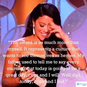 Gina Rodriguez Golden Globes quote