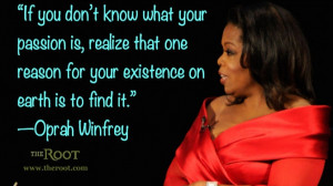 Quote of the Day: Oprah Winfrey on Passion