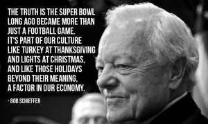 "... beyond their meaning, a factor in our economy."" - Bob Schieffer"