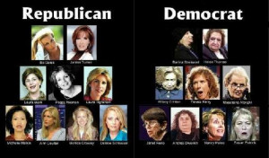 Funny Demoract and Republican Women