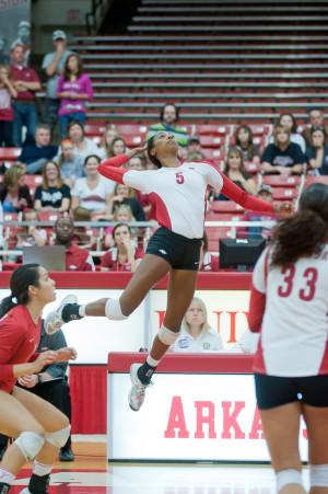 Women's volleyball, All-American outside hitter Jasmine Norton