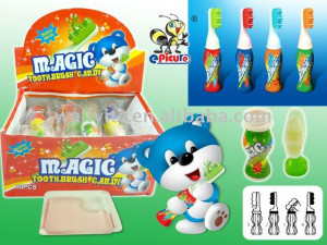 Funny Toothbrush Candy with Squeezing Jam
