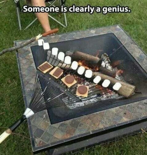 Buy a new rake, make a buttload of smores!