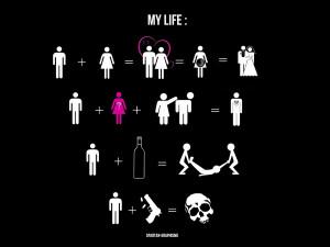 ... life stick figures description stick figures life black background