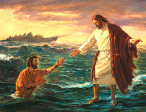 Peter didn't have quite enough faith to walk on the water with Jesus