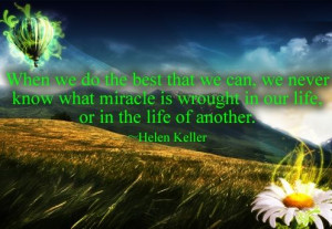 Motivational Quote by Helen Keller with Image !! on imgfave