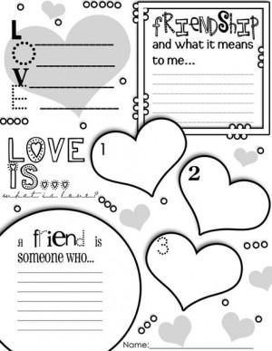 Valentine's Day Graphic Organizer Activity Poster Freebie!!! More