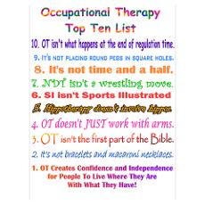 Occupational Therapy Posters | CafePress