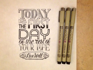 Hand Lettering Quotes - Artsy quotations - Chicquero - today-is-the ...