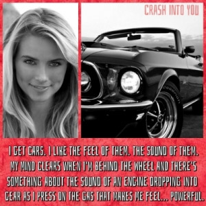 Car Racing Quotes Just her and her car.