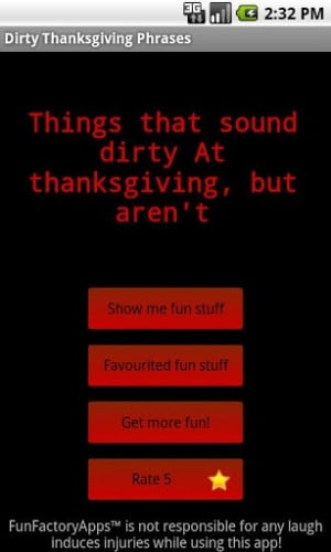 View bigger - Dirty Thanksgiving Phrases for Android screenshot