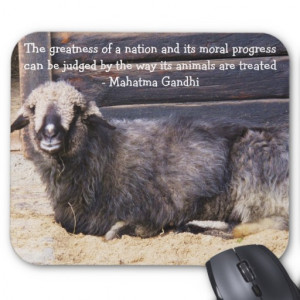 Animal Rights Gandhi QUOTE Mouse Pads