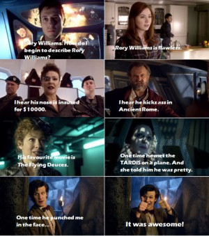 Funny Rory Williams Quotes