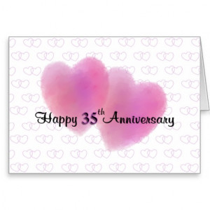 35th Wedding Anniversary Cards & More