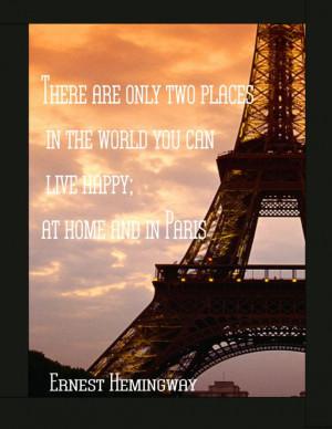 Eiffel Tower With Hemingway...