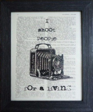 Funny Quote fathers day ANTIQUE CAMERA Print on an Vintage DICTIONARY ...